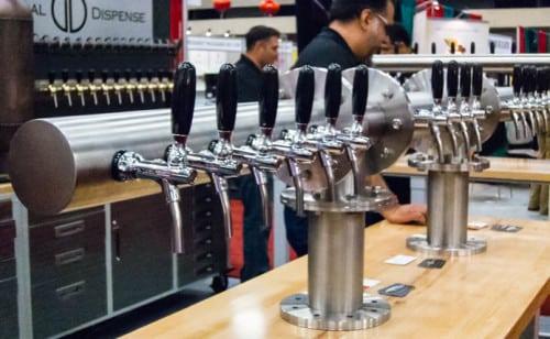 Global Dispense makes a line of super sleek alcoholic beverage dispensing systems.
