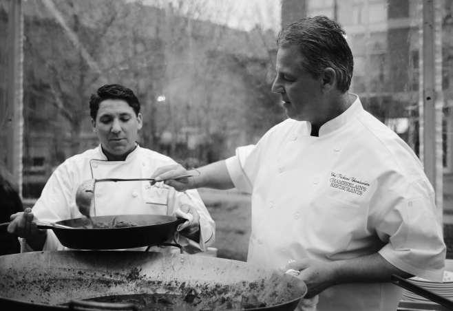 Richard Chamberlain is the head chef of Fork & Cork