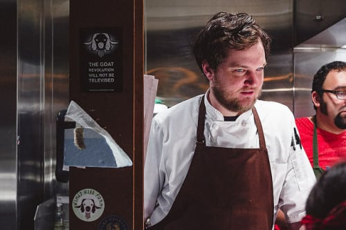 Ben Sukle was the guest chef; he owns Birch restaurant in Providence, Rhode Island