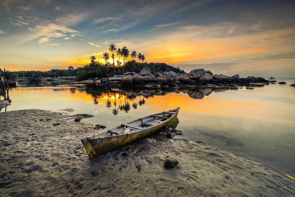 Sunset at Bintan Island, Indonesia