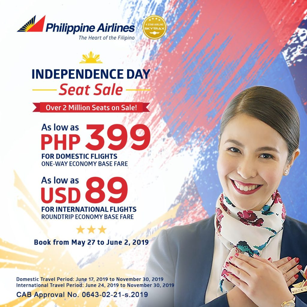 Philippine Airlines' Independence Seat Sale Starts Today!