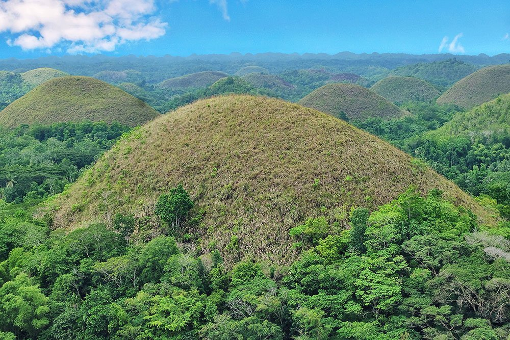Chocolate Hills, one of the top tourist spots in Bohol