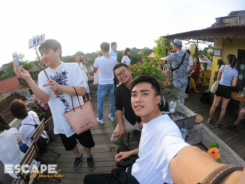 At the rooftop of Faifo Coffee in Hoi An with Hieu