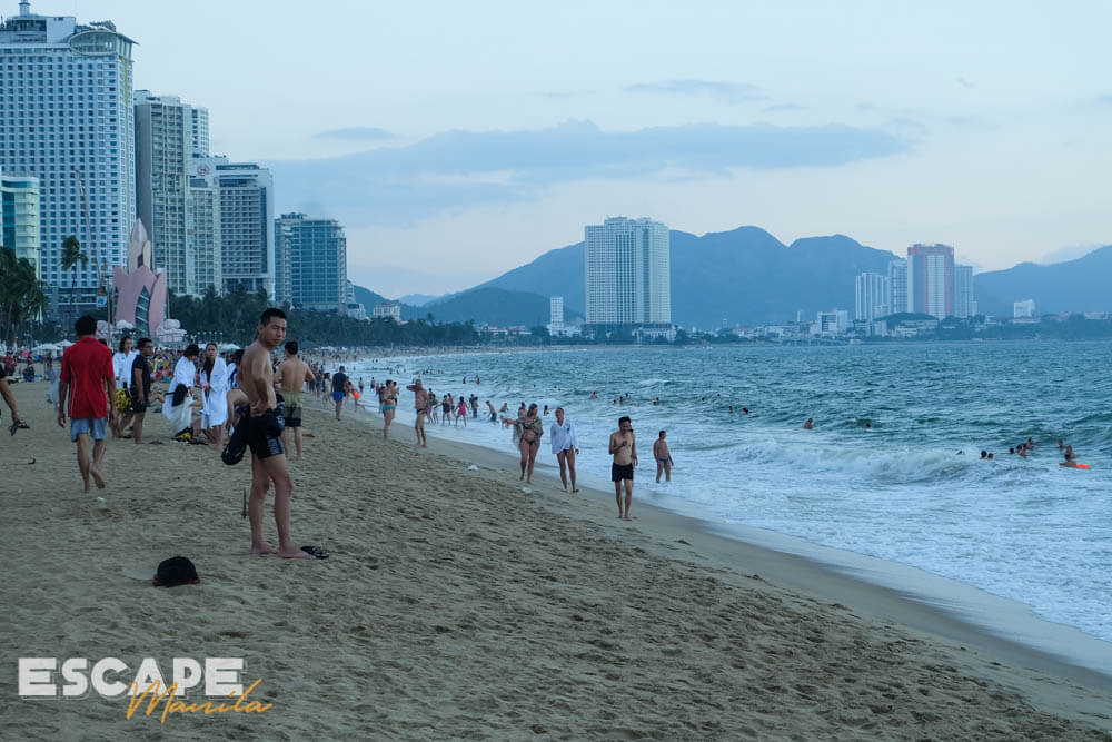Tran Phu Beach, one of the must-visit tourist attractions in Nha Trang, Vietnam.
