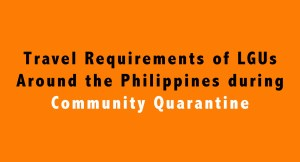 travel requirements of different LGUs in the Philippines