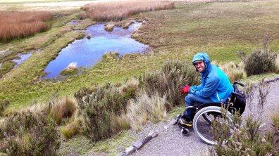 Limpiopungo, senderos de tierra y arena altamente accesible para sillas de ruedas