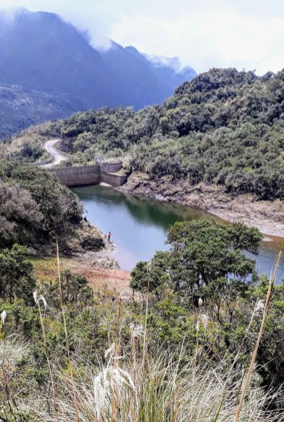 Laguna Loreto - represa para captar agua en la ciudad