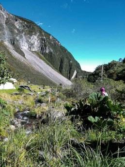 El Guagua Pichincha es el telón de fondo en la caminata a la cascada. Foto: CP