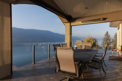 Deck overlooking Okanagan Lake