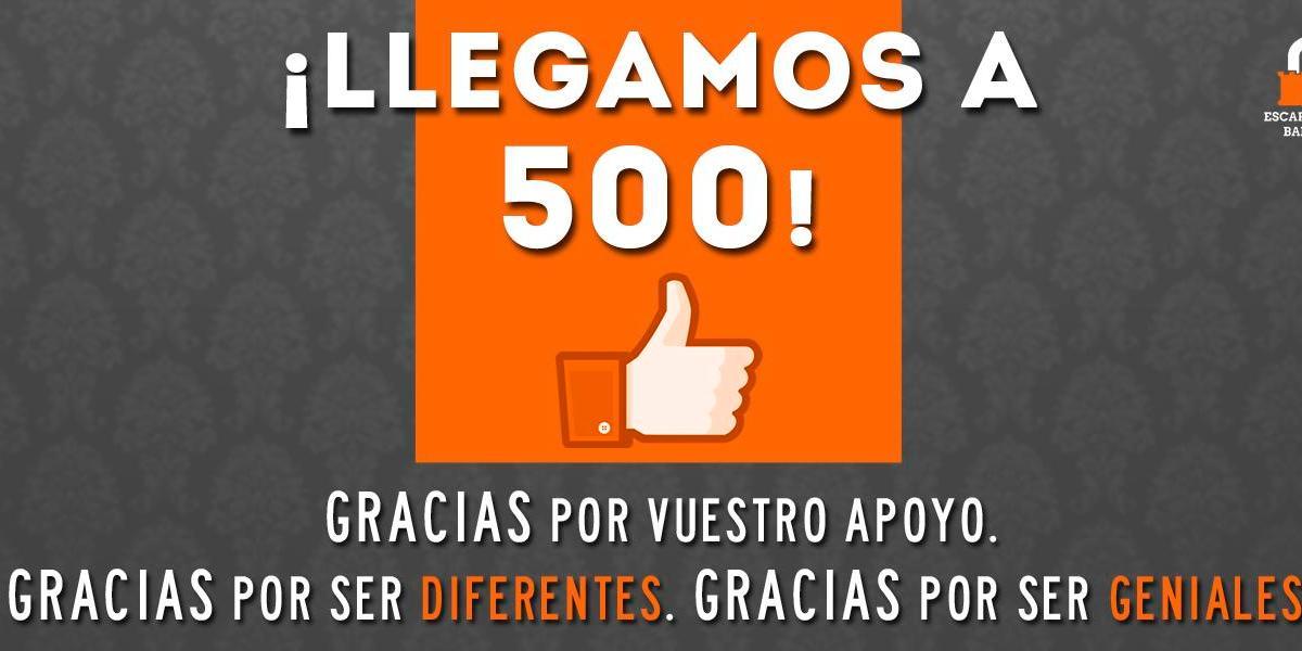 500 fans en facebook