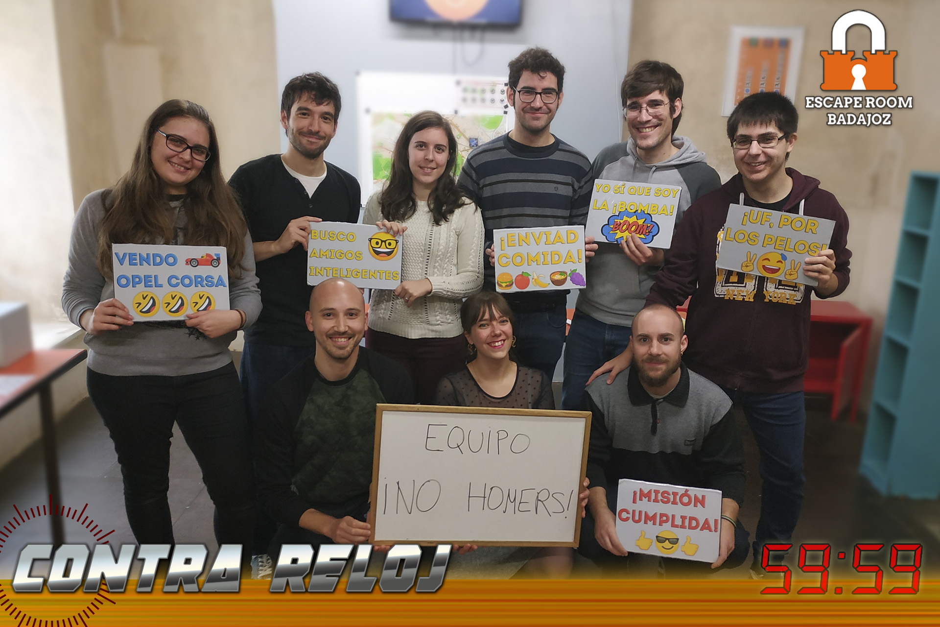 Equipo-No-Homers-escape-room-badajoz-contrareloj