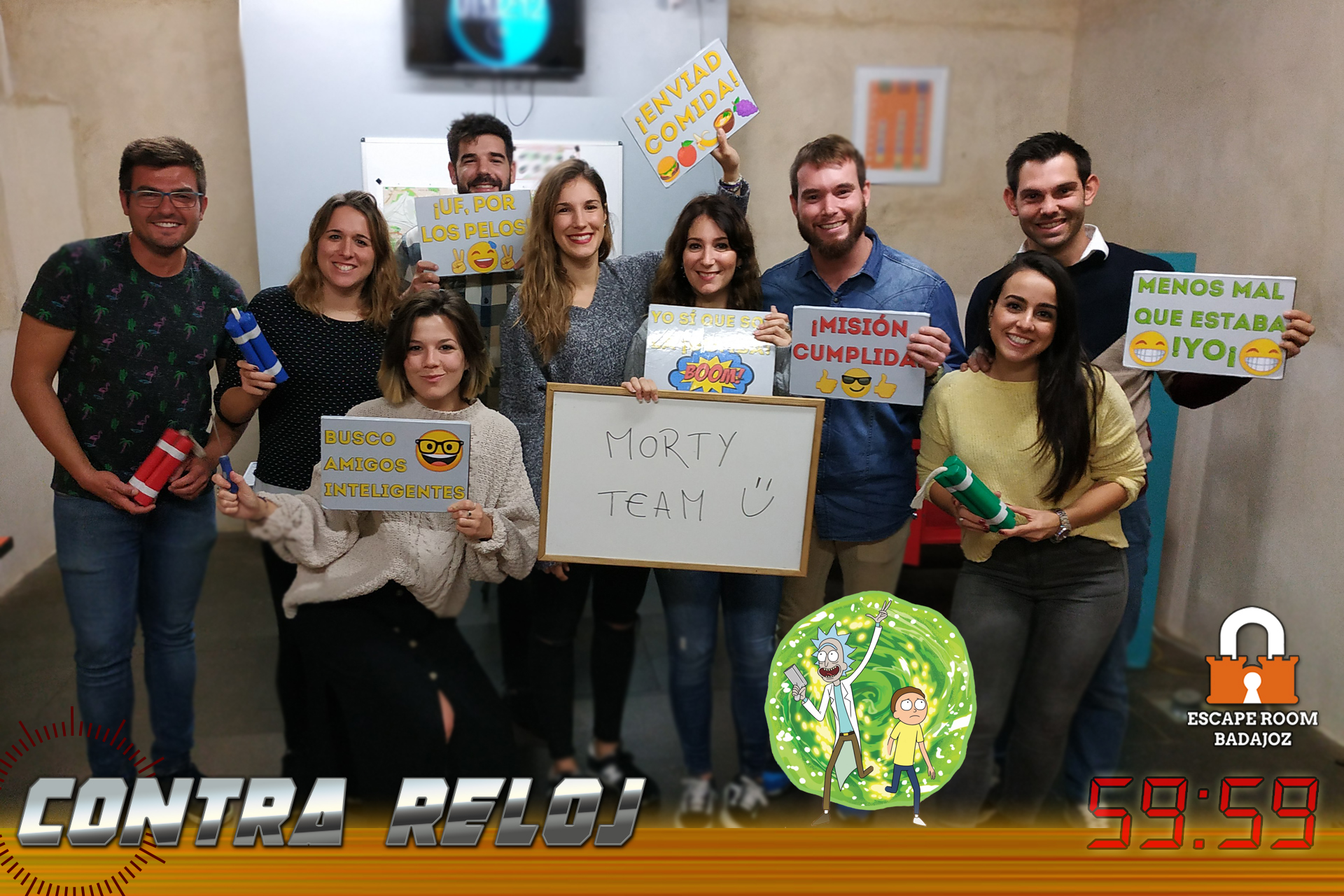 Equipo-morty-team-escape-room-badajoz