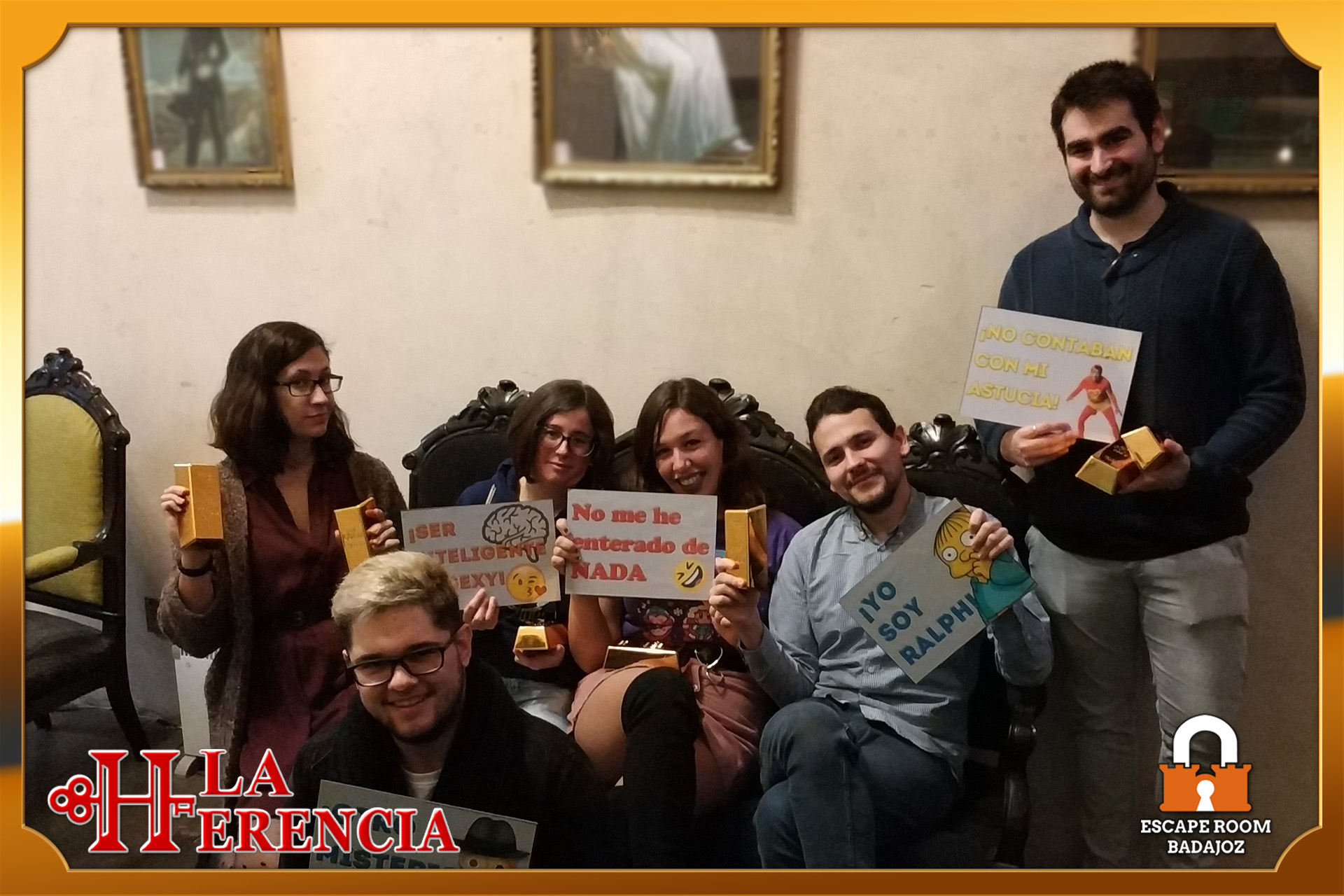 equipo- chupi-escape-room-Badajoz-LaHerencia