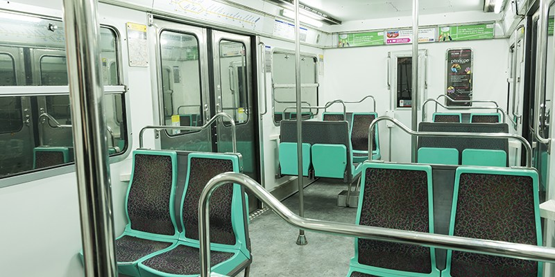 Metro takes place in a real, retired Paris Metro car!
