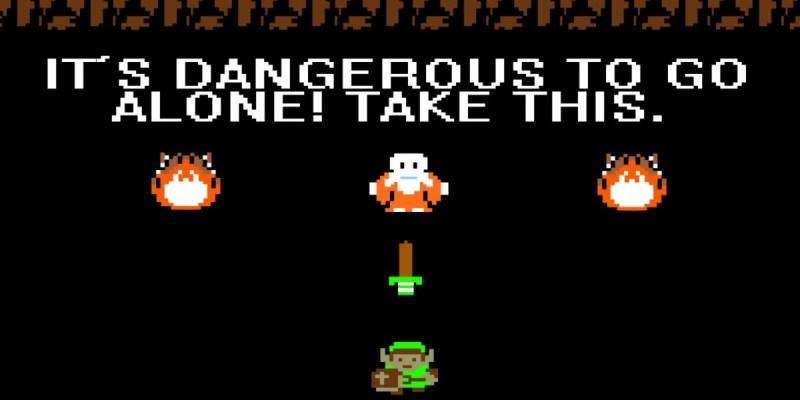 Screenshot of Legend of Zelda game