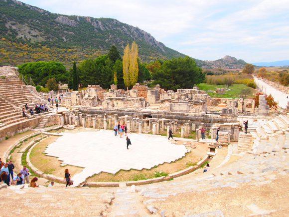 Gran Teatro Despedida desde Éfeso. Guía de Viaje Turquia