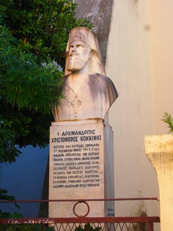 Busto de procer en Nauplia