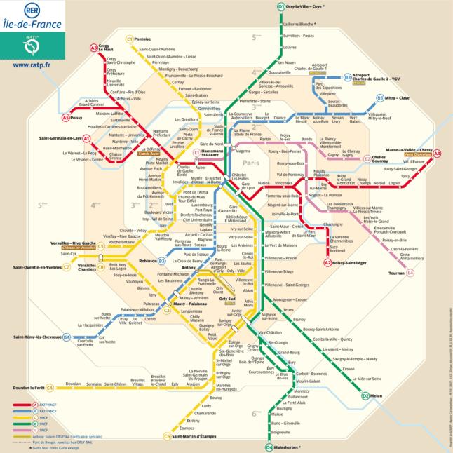 Plano Metro de Paris guia metro de paris 2019