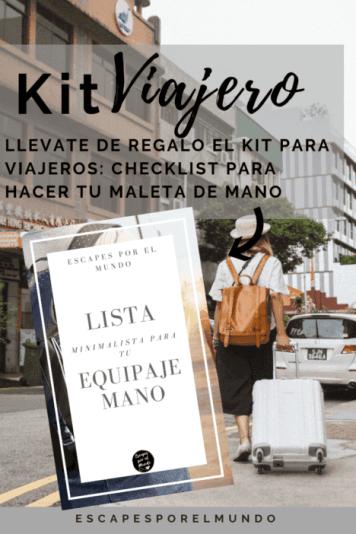 Kit para viajero maleta de mano
