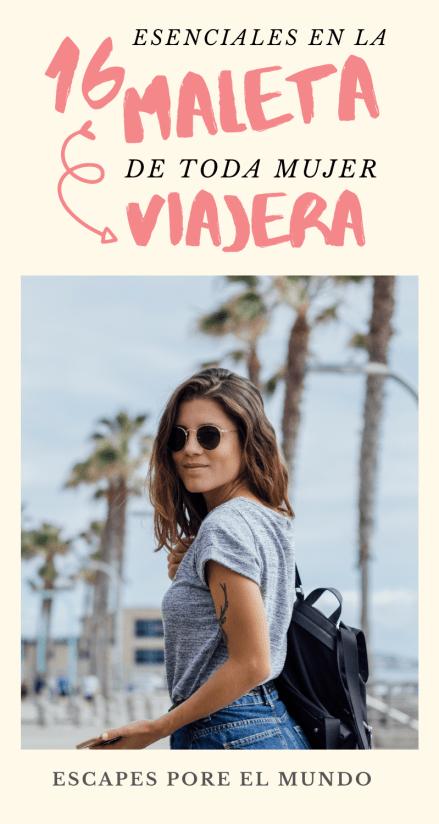 16 esenciales para la maleta de la mujer viajera