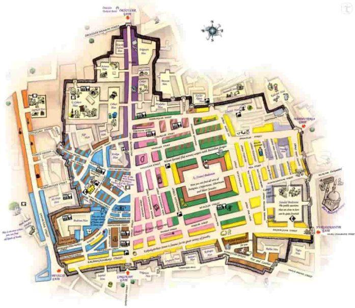 Mapa del Gran Bazar de Estambul- Escapes por el Mundo