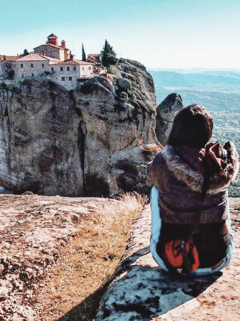 vistas al monasterio meteora