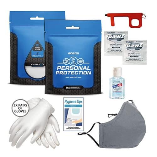 kit proteccion antibacterial de viaje accesorios de viaje