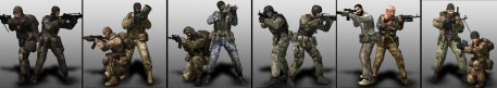 Battlefield 2: Special Forces character models by Lead Character Artist, Jay Evans