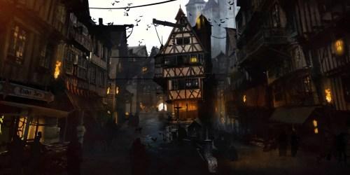 Medieval City Art