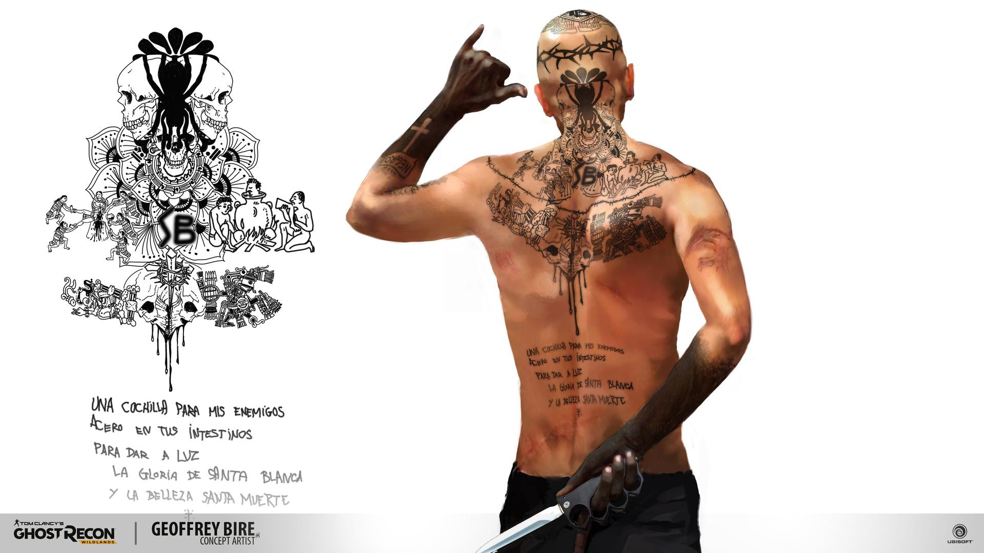 Ghost Recon Wildlands Tattoo Art