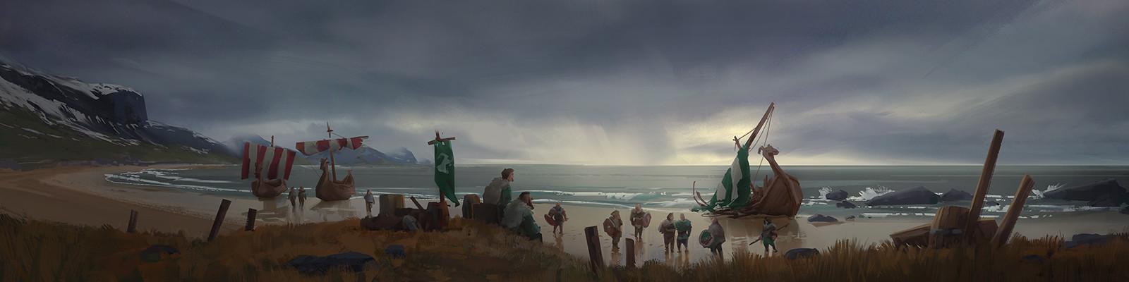 Northgard Concept Art by Etienne Hebinger