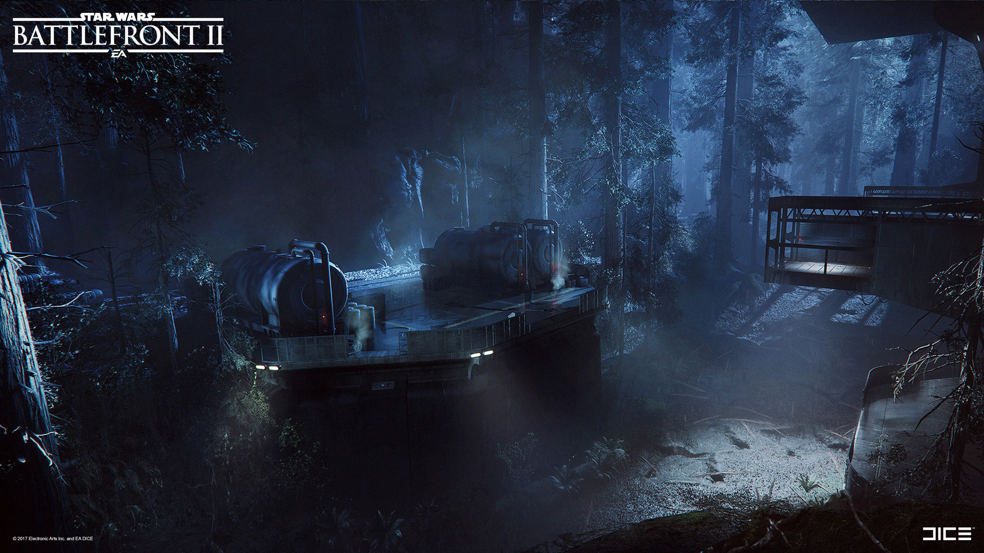 Star Wars Battlefront II Concept art - Forest Moon of Endor