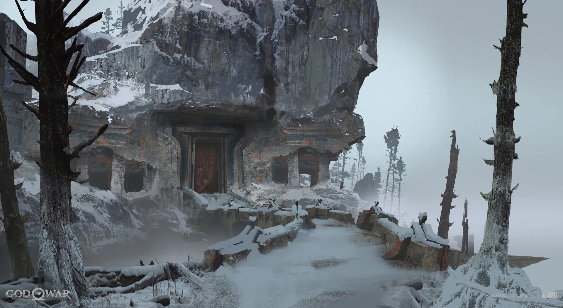 God of War Concept Art by Luke Berliner