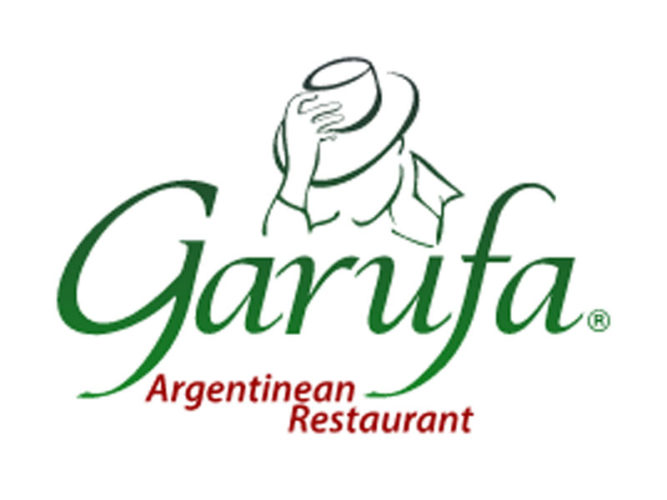 One of the newest Ajijic restaurants, Garufa's green logo for it's Argentinean Restaurant in Ajijic.
