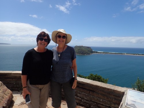 Di and I on a girl's day out; a little gazing at the horizon, a little shopping, lunch. Ahhhhh!