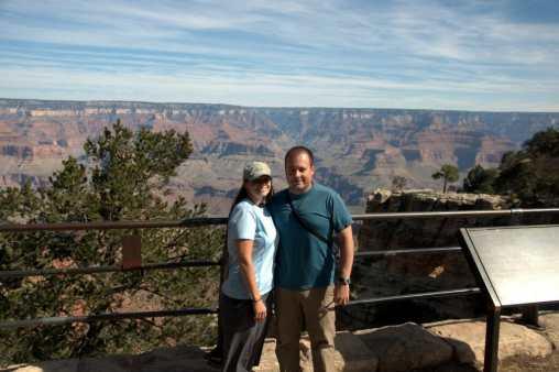 At the South Rim grand canyon