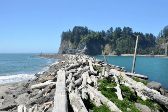 Pacific Coast La Push Washington first beach