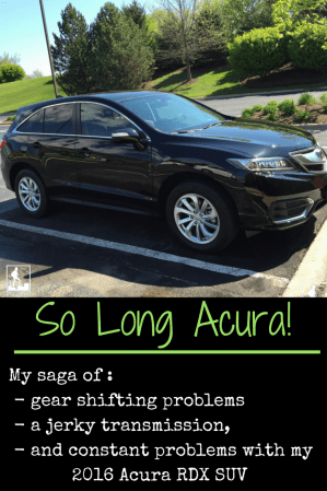 Acura RDX gear shift jerk hesitation