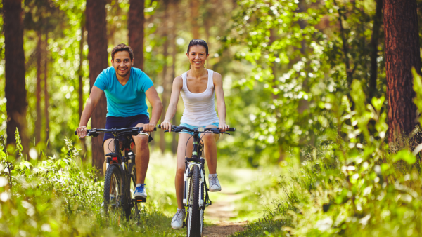 explore the outdoors by bicycle