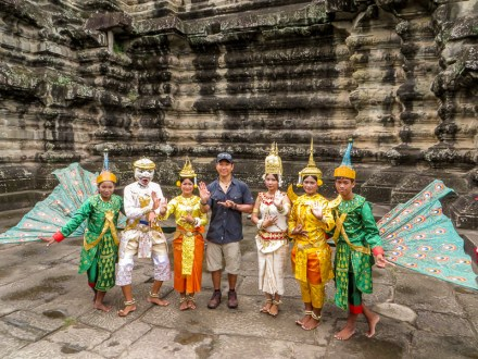 Staged photo at Angkor Wat
