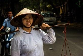 Vegetable vendor Hanoi