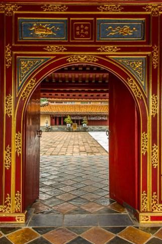 Gate at imperial citadel, Hue, Vietnam