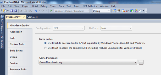 Error XNA 4: Could not find a Direct3D device that supports the XNA Framework HiDef profile (2/2)