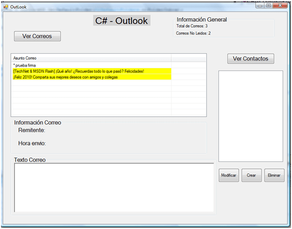 Integrar Outlook y C# (6/6)