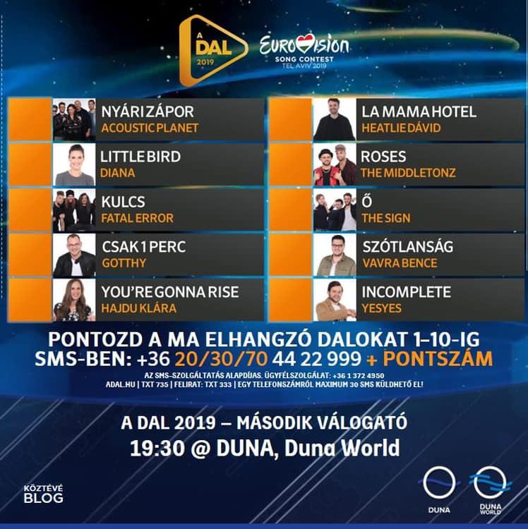 Eurovision A Dal 2019 Heat2