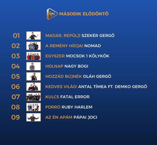 Eurovision 2019 Hungary ADAL Semi Final 2 Artists