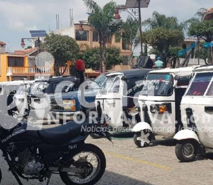 Realiza SECTE nuevo operativo para detener mototaxis en Papalotla.