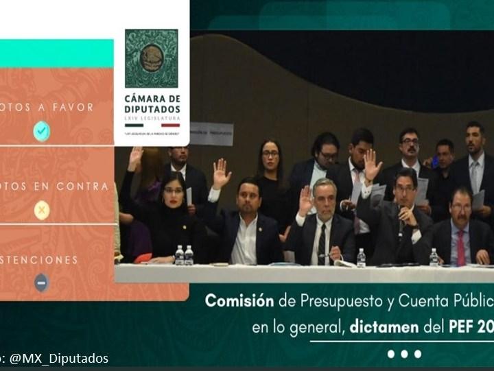 Con aplanadora de MORENA, aprueban en comisiones el PEF 2020; pasará al pleno.