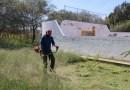"""Realizan labores de mantenimiento  en Deportivo """"Las Cruces"""""""