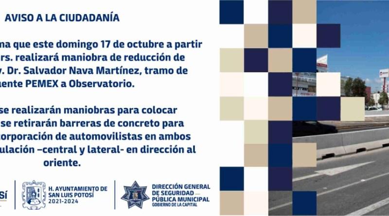 DGSPM RETIRARÁ BARRERAS DE CONCRETO EN AVENIDA SALVADOR NAVA MARTÍNEZ Y PUENTE PEMEX